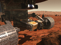 image of the mars rover, links to science 1 page